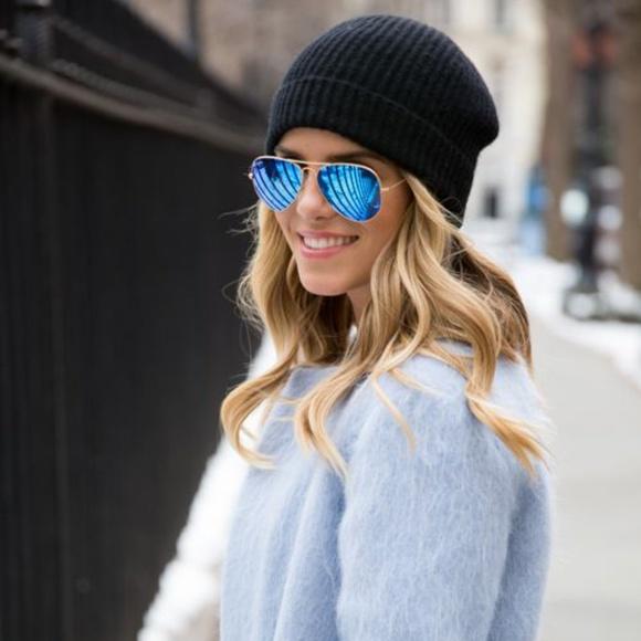 745d4452ab ... store rayban blue aviators flash lens sunglasses large 05761 50f7b